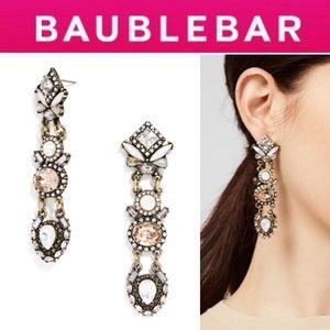 🆕 Elara Drop Earrings GREY/ANTIQUE GOLD
